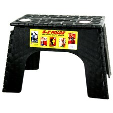 "<strong>B&R Plastics</strong> 12"" EZ Folds Folding Step Stool in Black"