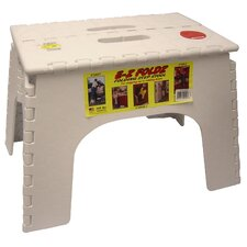 "<strong>B&R Plastics</strong> 12"" EZ Folds Folding Step Stool in White"