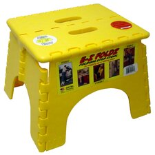 "<strong>B&R Plastics</strong> 9"" x 11.5"" EZ Folds Folding Step Stool in Yellow"
