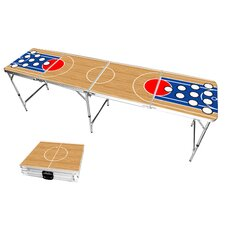 Basketball Beer Pong Table in Standard Aluminum