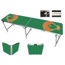 Baseball Beer Pong Table in Standard Aluminum