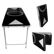Black Lightweight Beer Pong Table in Standard Aluminum