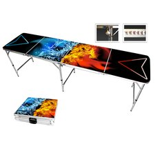 Fire Water Beer Pong Table in Standard Aluminum