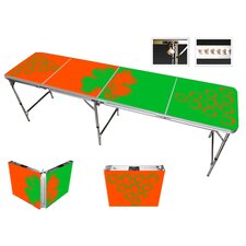 Irish Beer Pong Table in Black Aluminum