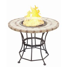 <strong>BlackandStone</strong> VioFlame Marble Top Fire Pit Table with Ethanol Burner