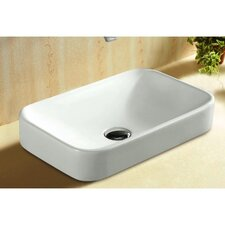 Ceramica Rectangular Self Rimming Bathroom Sink