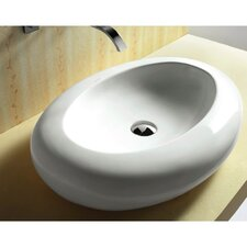 <strong>Caracalla</strong> Ceramica Oval Vessel Bathroom Sink