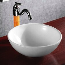 <strong>Caracalla</strong> Ceramica Round Vessel Bathroom Sink