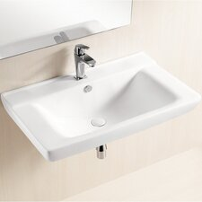 Ceramica II Edged Wall Mounted Bathroom Sink