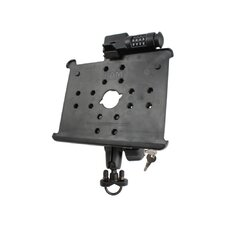 Handlebar / Rail Mount with Locking Arm and Locking Cradle for the Apple iPad and iPad 2
