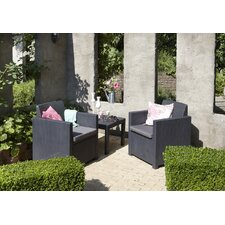 Allegro 3 Piece Square Dining Set with Cushion