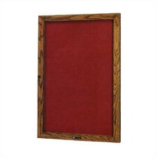 No. 352 Single Door Wood Framed Glass Door Directory