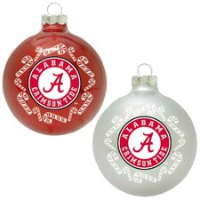 NCAA Home and Away Glass Ornament Set (Set of 2)