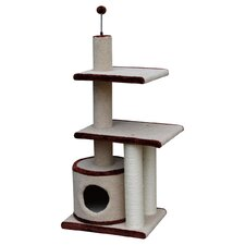 "42"" Multi Level Carpet Cat Condo"