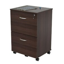 Uffici Commercial 2 Drawer Mobile Filing Cabinet