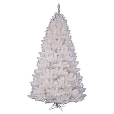 <strong>Vickerman Co.</strong> Crystal White Spruce 5.5' Artificial Christmas Tree with 450 Clear Lights with Stand
