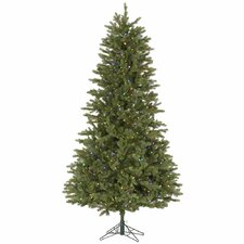 Slim Balsam 7.5' Green Fir Artificial Christmas Tree with 700 LED Multi-Colored Lights