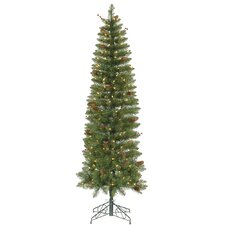 Salinas Pencil 5.5' Artificial Christmas Tree with 200 Clear Lights
