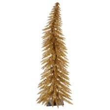 Colorful 2.5' Brown Artificial Christmas Tree with 35 Lights