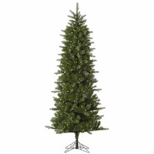 Carolina Pencil 7.5' Green Spruce Artificial Christmas Tree with 450 LED White Lights