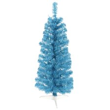 Colorful 3' Sky Blue Artificial Christmas Tree with 50 Single Colored Lights