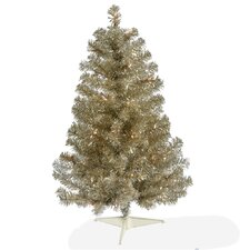 Champagne 3' Artificial Christmas Tree with 50 Clear Lights