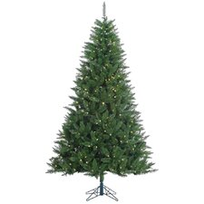 Kennedy 7.5' Green Fir Artificial Christmas Tree with 500 LED White Lights with Stand