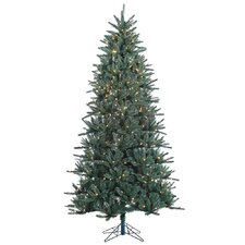 Baldwin Spruce 7.5' Green Artificial Christmas Tree with 500 Clear Lights with Stand