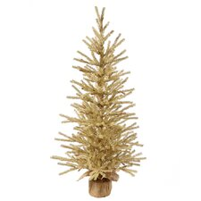 Champagne 4' Burlap Base Artificial Christmas Tree