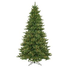 Camdon Fir 9.5' Green Artificial Christmas Tree with 1350 Dura-Lit Clear Lights with Stand