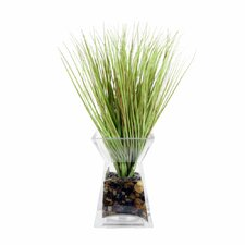 Floral Grass in Acrylic Glass Vase