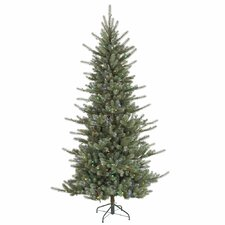 Colorado Spruce 7.5' Green Artificial Christmas Tree with 680 LED Multi-Colored Lights with Stand