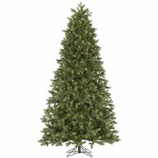 Slim Del Mar Frasier 6.5' Green Fir Artificial Christmas Tree with 400 Dura-Lit Clear Lights