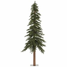 Natural Alpine 8' Green Artificial Christmas Tree with Unlit