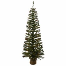 Fresh Pistol Berry 4' Pine Tree Artificial Christmas Tree with 70 Clear Lights