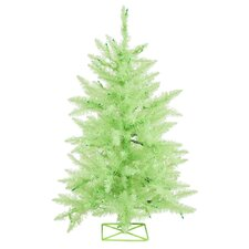 Chartreuse 3' Green Artificial Christmas Tree with 70 Mini Single Colored Lights with Stand