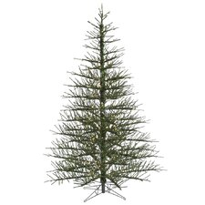 Stiff Needle 7.5' Green Artificial Christmas Tree with 600 Mini Clear Lights with Stand