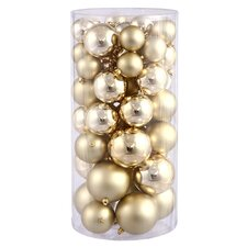 50 Piece Ball Ornament Set