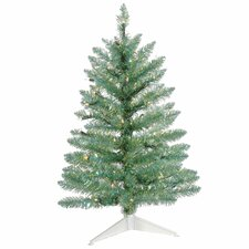 2.5' Turquoise Green Pine Artificial Christmas Tree with 50 Clear Lights