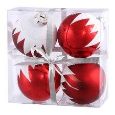 Snow Cap Ball Ornament (Set of 4)