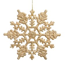Snowflakes Glitter Ornament (Set of 12)