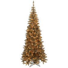 Antique Gold Ornaments 10' Champagne Fir Artificial Christmas Tree with 900 Mini Clear Lights