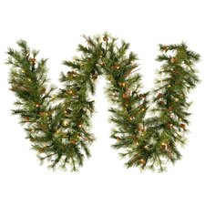 Mixed Pre-Lit Country Pine Garland with 50 Clear Lights
