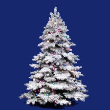 Flocked Alaskan 3' White Artificial Christmas Tree with Unlit with Stand
