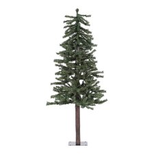 Natural Alpine 5' Green Artificial Christmas Tree with Unlit