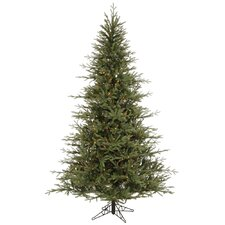 Castlerock Frasier Fir 8.5' Green Artificial Christmas Tree with 1000 Multicolored Lights with Stand
