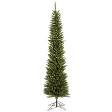 <strong>Vickerman Co.</strong> Durham Pole Pine 7.5' Green Artificial Christmas Tree with 250 Clear Lights with Stand