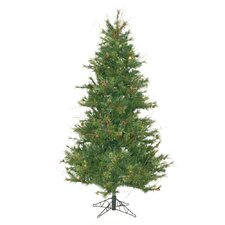 "Mixed Country Pine Slim 6' 6"" Green Artificial Christmas Tree with Stand"