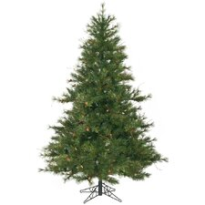 Mixed Country Pine 7.5' Green Artificial Christmas Tree with Stand