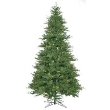 Mixed Country Pine 7.5' Green Slim Artificial Christmas Tree with Stand